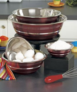 Kitchen Mixing Serving Food Bowl Set Stainless Steel Bowls