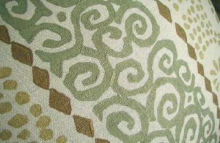 Galbraith Paul Block Print Linen Fabric Custom Designer Throw Pillow 1