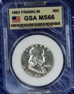 1963 P FRANKLIN 90% SILVER HALF DOLLAR AUTHENTIC US COIN FROM US MINT