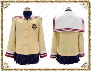 CLANNAD Tomoyo Kotomi Fuko Nagisa Kyou Uniform Cosplay costume