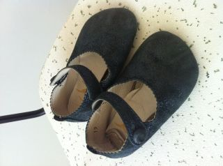 Gallucci Baby Shoes Midnight Blue Sparkle Mary Janes Sold at Bonpoint
