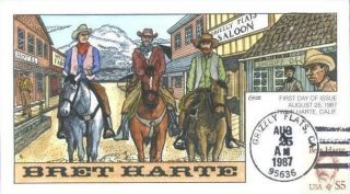 grizzly flats california fred collins handpainted first day cover fred
