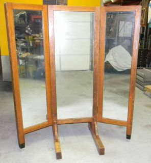1929 Mission Oak Full Length 72 3 Way Mirror Industrial Kewaunee