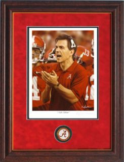 Alabama Football Nick Saban Framed Greg Gamble Print