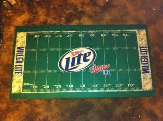 Miller Lite Welcome Football Field Turf Floor Mat Beer Light Time SEC