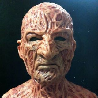 freddy krueger mask costume nightmare horror zombie jason fx silicone