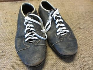 Leather Football Cleats  Old Antique Equipment Baseball Shoes 7495