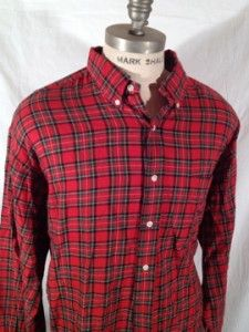 Polo Ralph Lauren Red and Green Plaid Blake Causal Shirts Size XXLarge