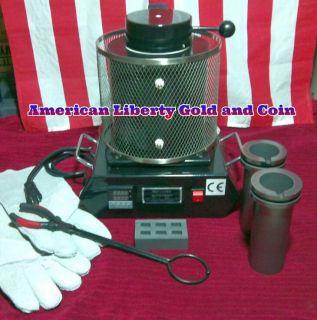 2kilo Electric Furnace Kiln Gold Silver Melting Casting Jewelry ingot