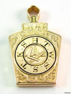 MARK MASON Royal Arch   12k Yellow GOLD Antique Scrollwork FOB