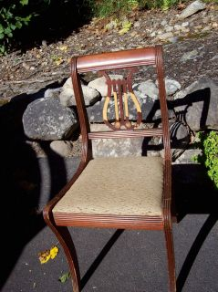 Furniture Lyre Harp Back Chair Needs Tender Loving Care Pick Up