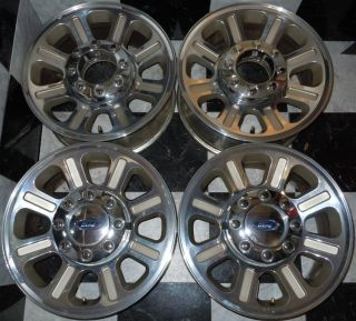 Ford F250 F350 F 250 F 350 King Ranch 18 Polished Factory OE Wheels