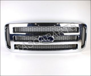 Chrome Front Grille 2006 07 Ford F250 F350 F450 F550 Super Duty