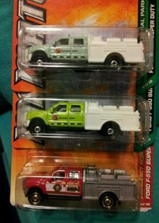 Matchbox fire truck ford f550 super duty lot of 3 different varients