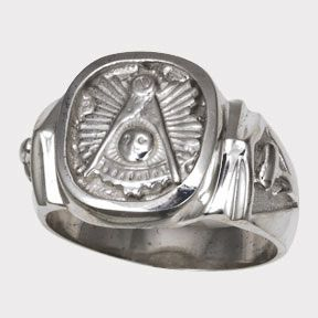 Silver Past Master Masonic Ring Mason Pastmaster Blue Lodge