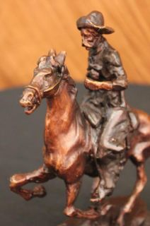 Frederic Remington Trooper of The Plains Bronze Statue Sculpture