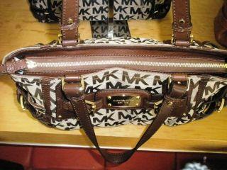 Michael Kors Gansevoort LG Satchel Handbag MK Sig Brown