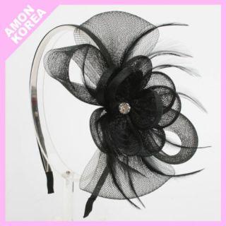 Hippie Mesh Feather Headband Hairband Bridal Wedding