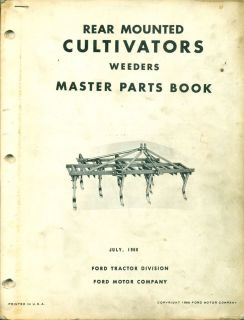 FORD Master PARTS BOOK Rear Mounted Cultivators PA 5376 D AF 7