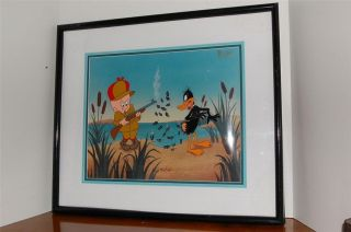 FRIZ FRELENG SIGNED DUCK HUNTING ANIMATION CEL LIMITED DAFFY DUCK
