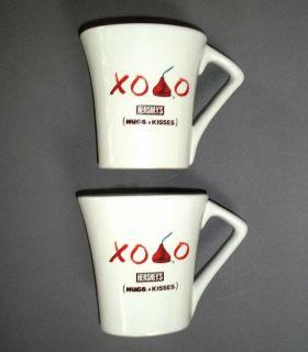 Hershey Hugs Kisses Coffee Hot Chocolate Mugs 1 Pair 2 Ea