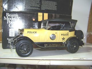 Jim Beam 1929 Ford Model A Yellow Police Car Decanter