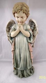 Praying Cherub Angel Pastel Garden Statue Memorial Decor