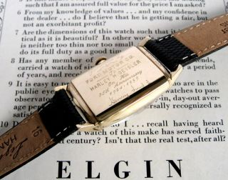 Mens 1959 Lord Elgin 10K SOLID GOLD 23j USA Vintage Watch + ORIG. BOX