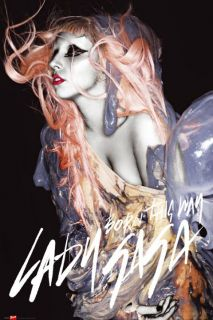 Lady Gaga Born This Way Orange Hair New Music Poster
