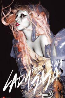 Lady Gaga Born This Way Orange Hair New Music Poster
