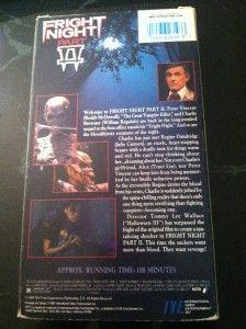 Fright Night 2 VHS Slip Ive Roddy McDowall William Ragsdale Julie