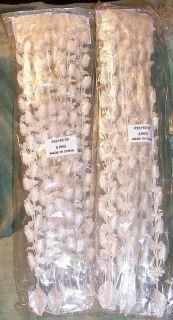 Rose Wedding Garlands   12 pcs   Cream White   Satin and Pearls   NIP