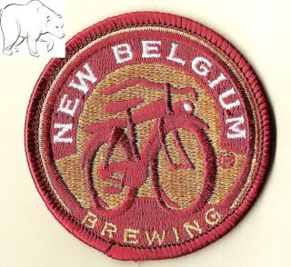 Brewing Round Beer Patch Fat Tire Bicycle Bike Fort Collins Colorado
