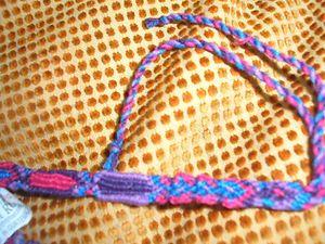 Red Blue Purple Guatemala Woven Friendship Bracelets Bracelet