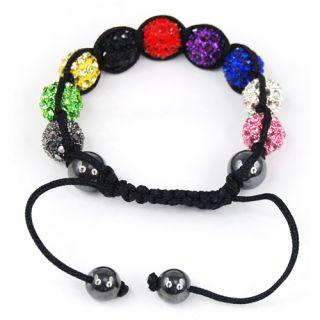 Mixcolor Shamballa Bracelets Friendship Disco Ball Bracelet Pave Beads