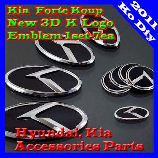 Kia Forte Koup Cerato Koup K Logo HighQuality Premium 3D Design Emblem