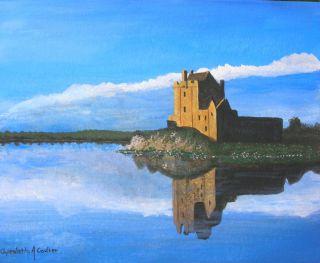 Dunguaire Castle Galway 8X10 Ireland Irish Original Painting