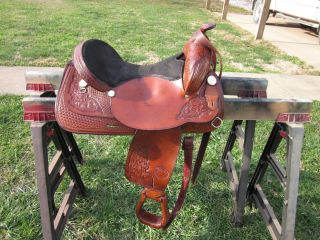 Tex Tan Tex Flex 17 Hereford Leather Saddle Suede Seat Trail Yoakum