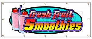 48x120 Smoothies Banner Sign Fresh Fruit Smoothie Signs
