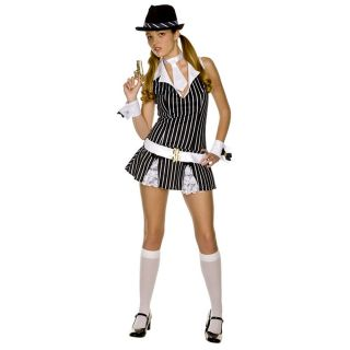 Mafia Gangster Halloween Juniors Costume Belt Hat s M Size