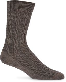 Lifestyle Essentials San Fran Cable Chocolate Sock Size M L