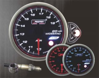 Wideband Air Fuel Ratio Gauge W Bosch O2 sensor Halo series Blue Red