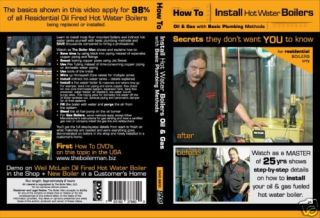 Hot Water Boiler Oil or Gas Fired Boiler How to Install