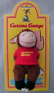 Curious George Full Body Finger Puppet Skater Cute LQQK