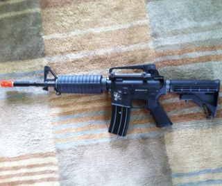 NEW NIB Airsoft WE Tech Full Metal M4A1 Carbine AEG With BBs And Extra