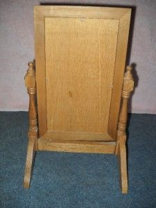 size or dollhouse dolls full length mirror wood swivel stand 14 tall