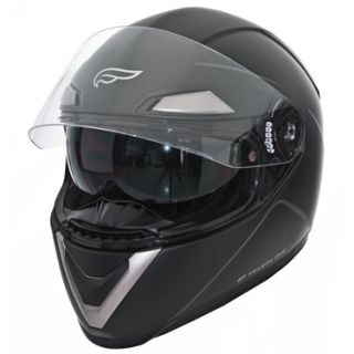 Fulmer Full Face Motorcycle Helmet with Sunvisor Gloss Black Sz Med