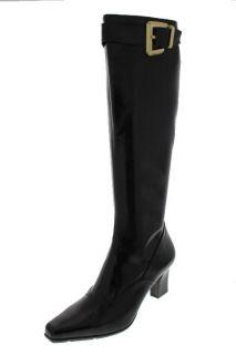 Franco Sarto New Tone Brown Side Zipper High Heel Knee High Boots
