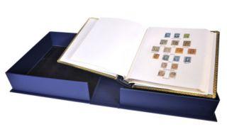 Frank Godden de Luxe Stamp Album Slipcase Blue