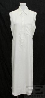 Jean Paul Gaultier White Sleeveless Long Dress Size 8